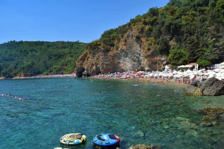 budva montenegro mogren beach