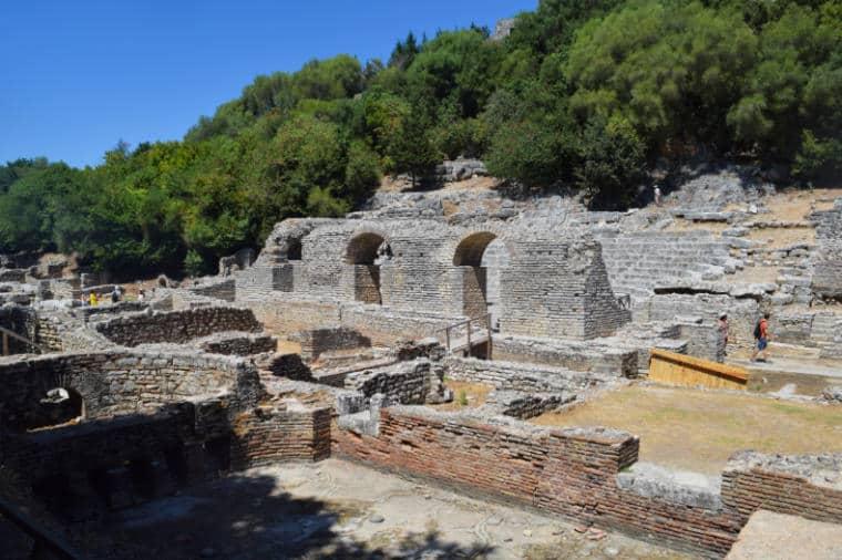 butrint albania antigo teatro romano