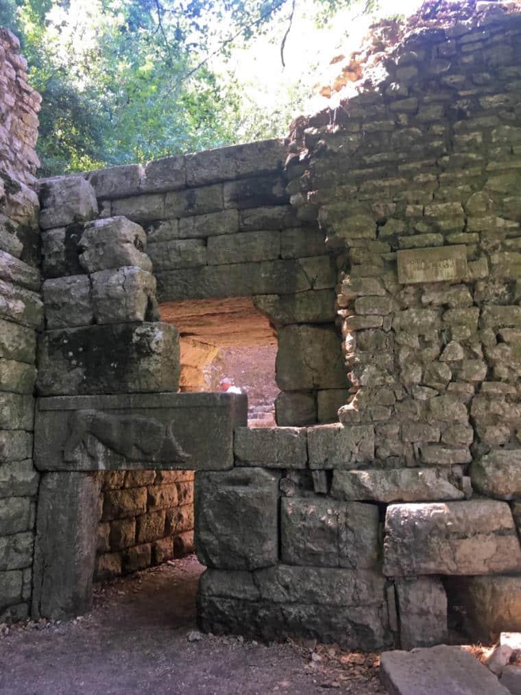 butrint albania lions gate