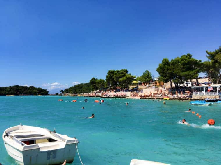 ksamil praia riviera albanesa