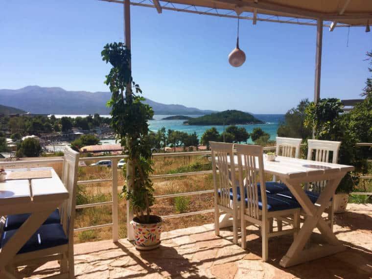 ksamil riviera albanesa restaurante