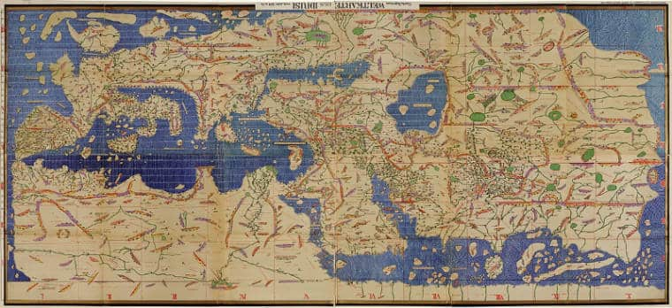 mapa muculmano antigo