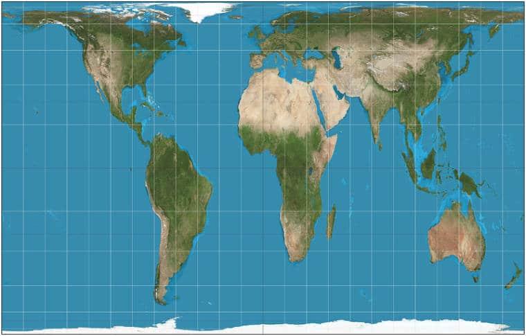 projecao de peters mapa