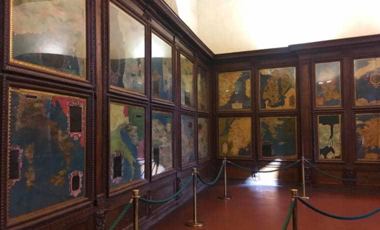 sala dos mapas palazzo vechio florença