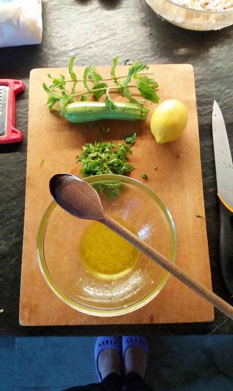 Cozinha mediterrânea direto da horta