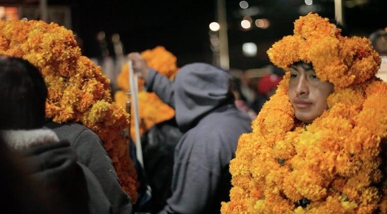 Cerimônia matlatzinca em San Francisco, México