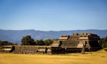 Monte Albán, as ruínas de uma antiga cidade zapoteca perto de Oaxaca