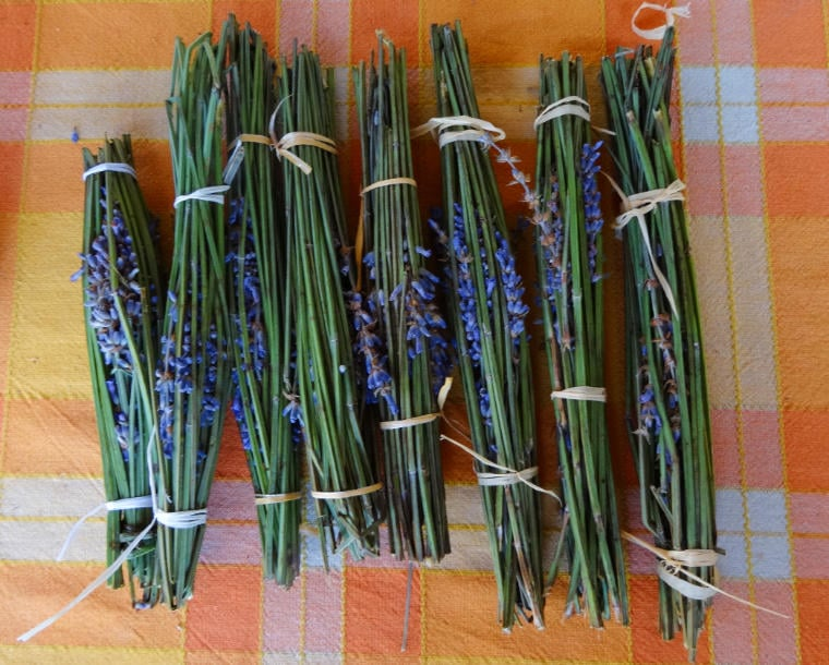 sachés perfumados de lavanda natural - presentes produzidos para os vizinhos