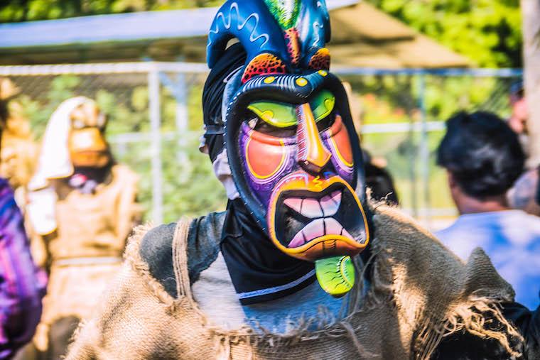 Jogo dos Diablitos, festa Boruca em Rey Curré