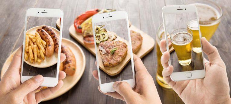 Como o Instagram coloriu a sua comida