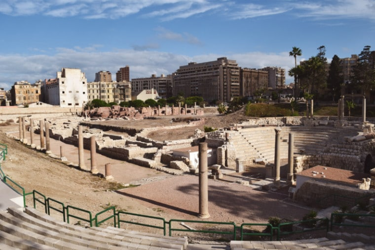 alexandria egito ruinas romanas