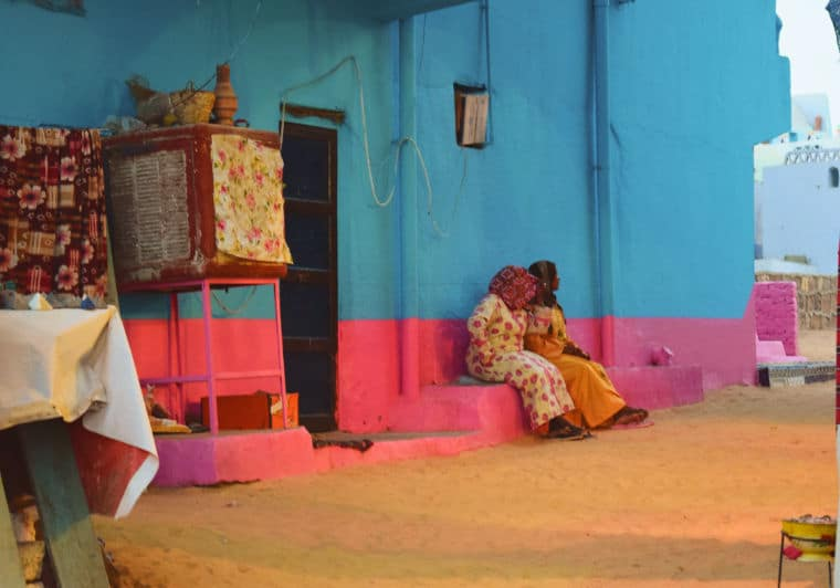 aswan egito vila nubia mulheres