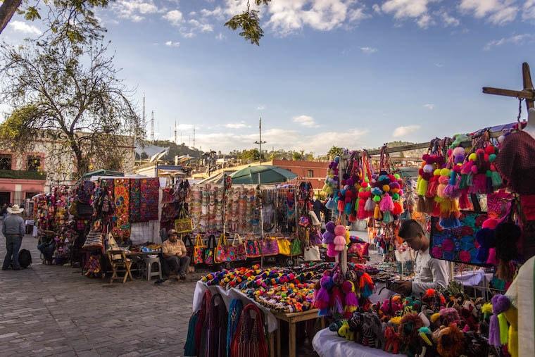 Mercado de artesanato de Oaxaca