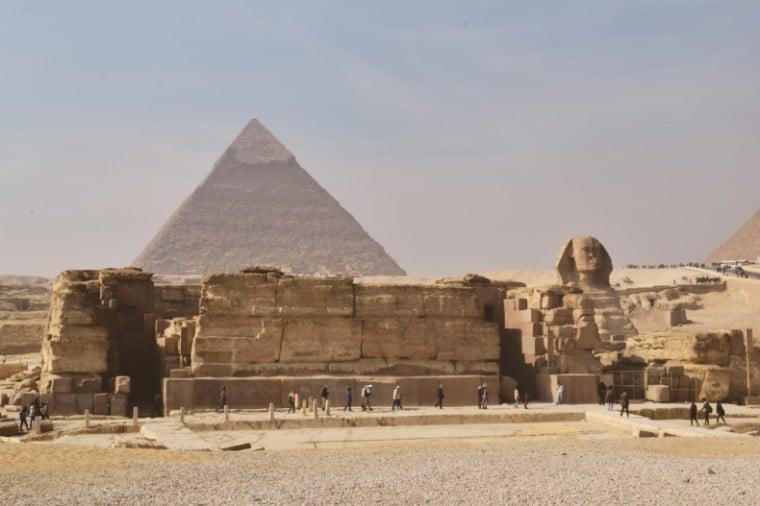 piramides do egito e templo da esfinge