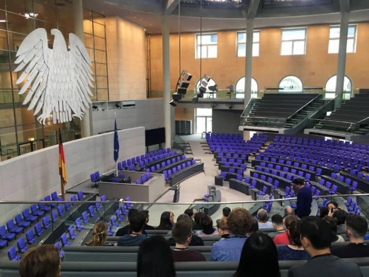 Reichstag Berlim plenaria bundestag