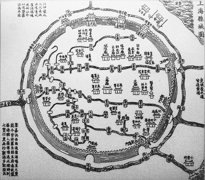 mapa da cidade velha de xangai