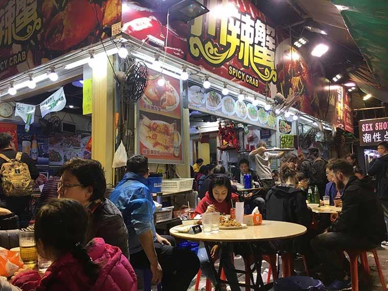 comida de rua em hong kong
