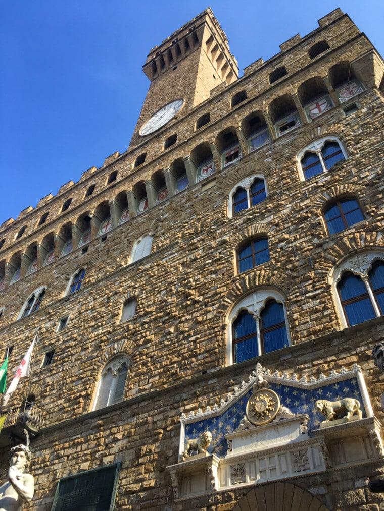 museus em florença fachada palazzo vecchio