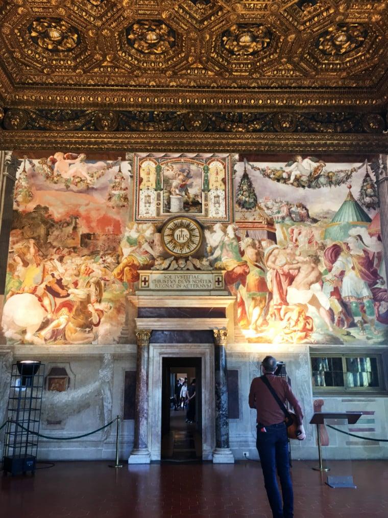 museus em florença sala palazzo vecchio