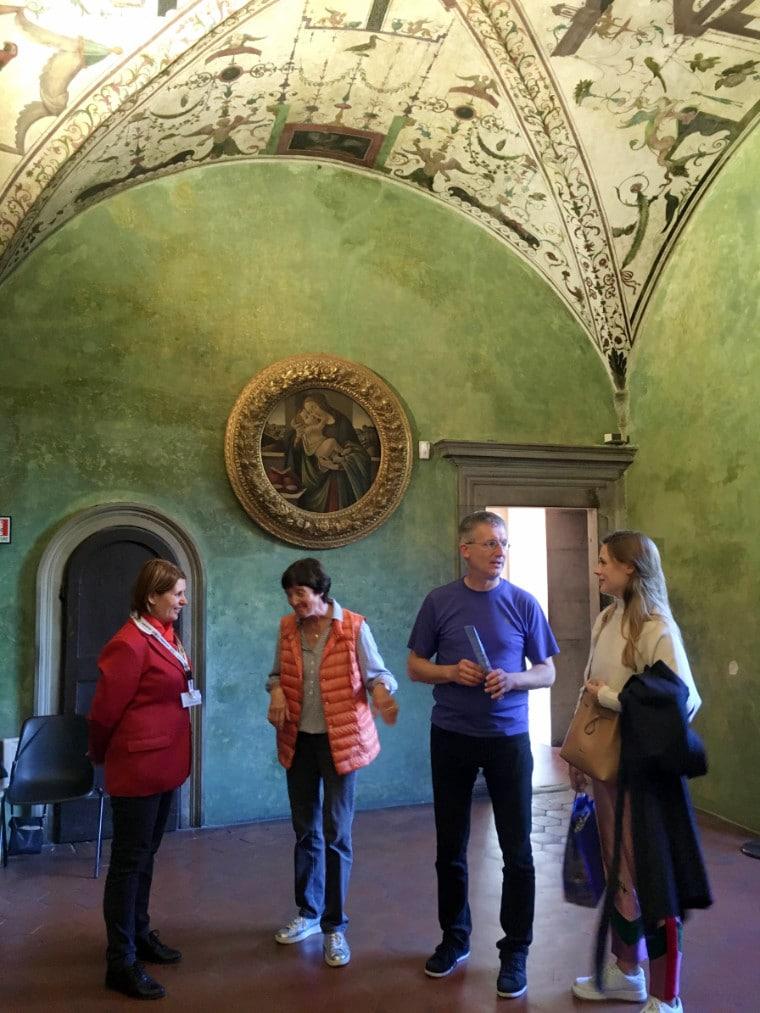 museus em florença sala verde palazzo vecchio