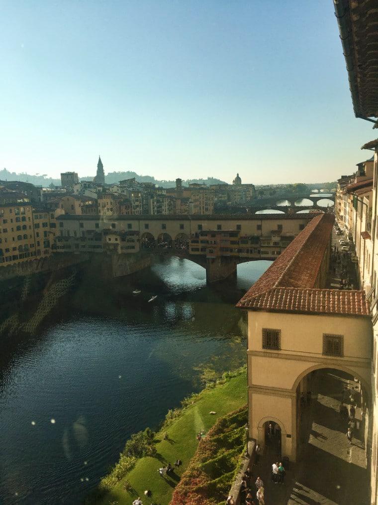 museus em florença vista ponte vecchio