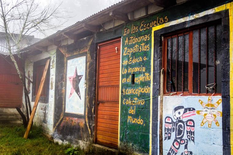Caracol Zapatista de Oventic perto de San Cristobal de Las Casas, Chiapas, México