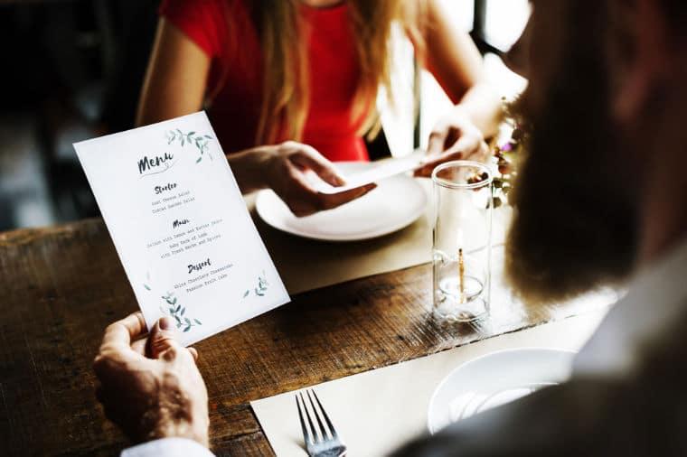 tradução de menus de restaurantes