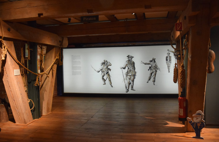 anne bonny e mary read no museu maritmo de hamburgo