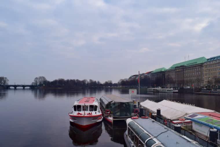 hamburgo alemanha lago abster