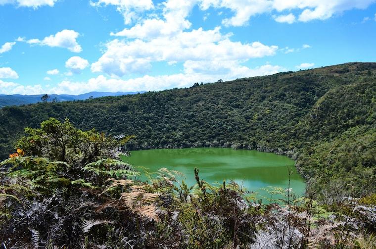 Lago Guatavita, na Colombia, a origem da lenda de El Dorado