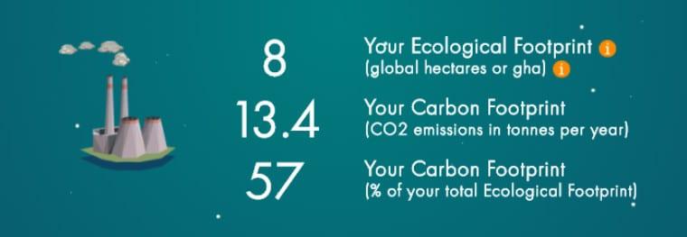 pegadas de carbono sustentabilidade