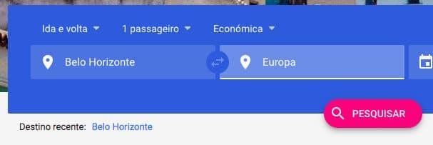voos google flights passagens aeroportos