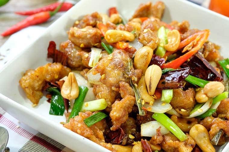 comida da china: kung pao pratos tipicos chineses