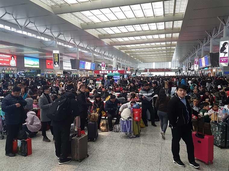 estação de trem em xangai