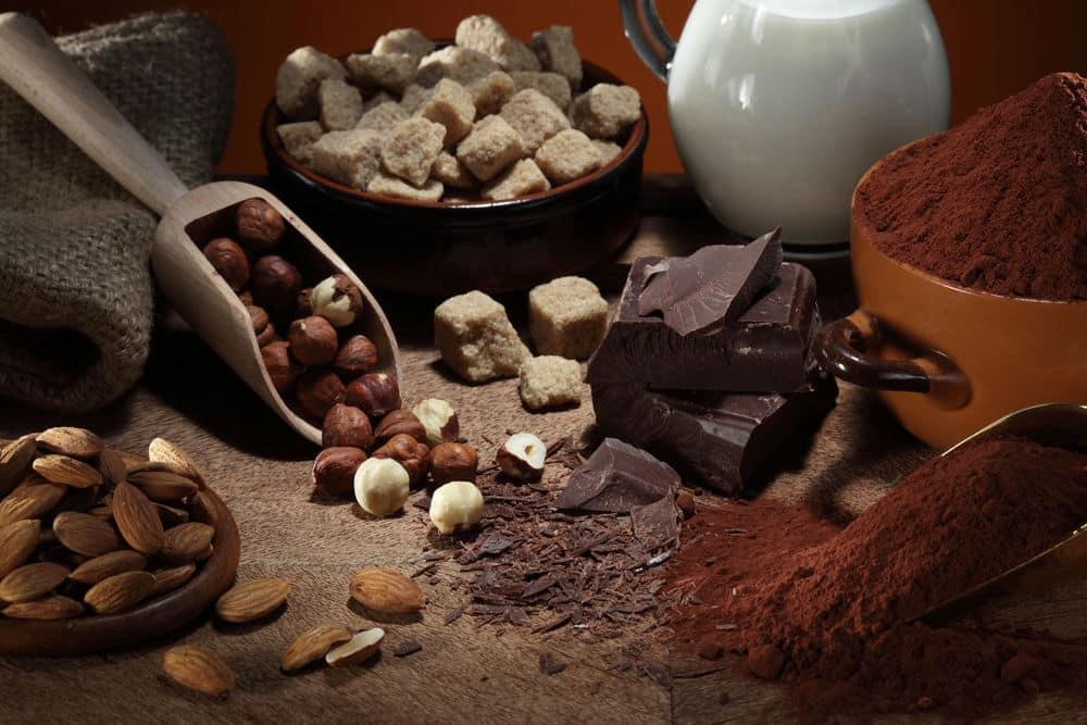 história do chocolate tipos