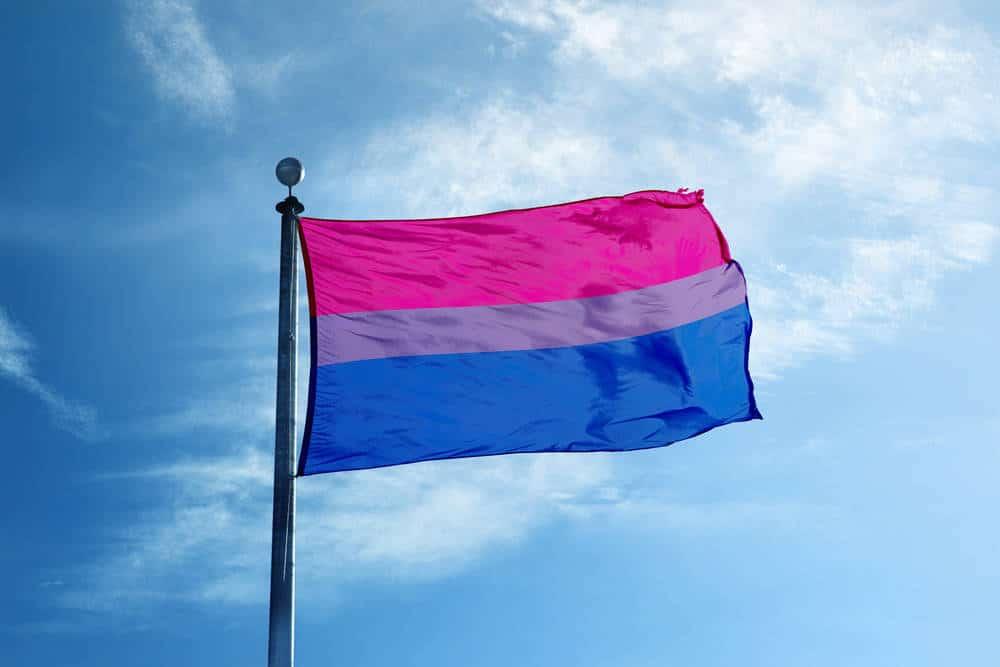 orgulho bissexual bandeira