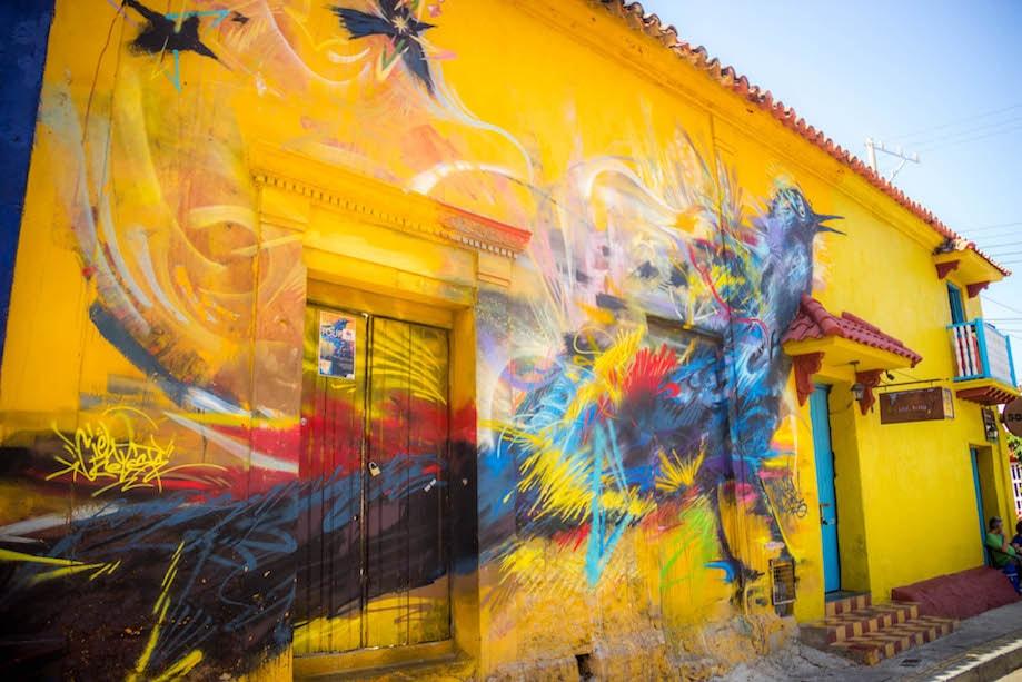 Arte de Rua em Getsemaní, Cartagena