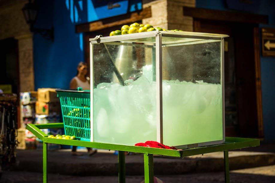 Comida de rua em Cartagena