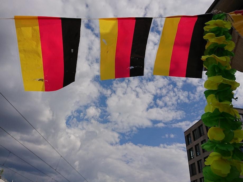 Bandeiras da Alemanha para a Copa do Mundo