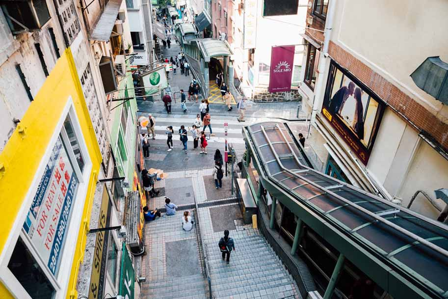 escada rolante de hong kong