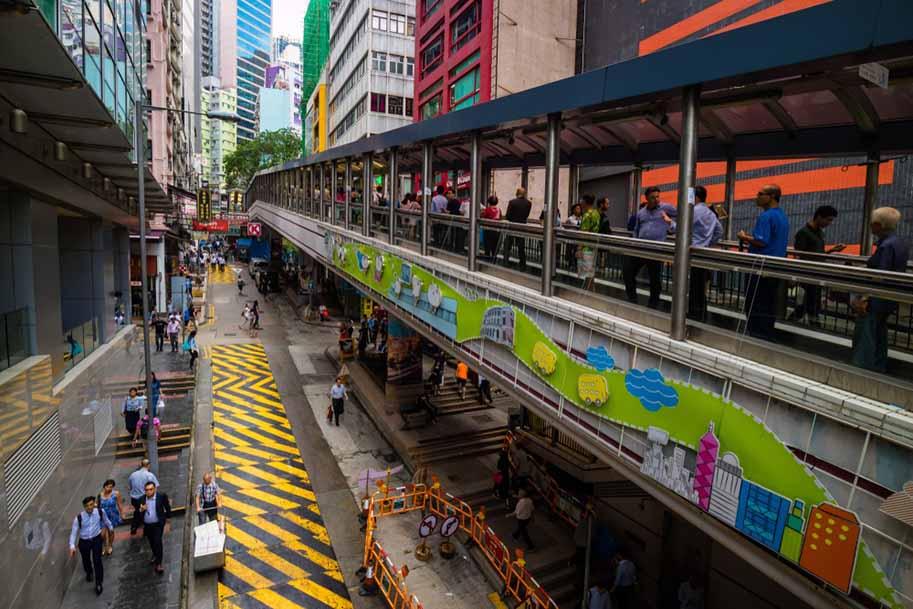 escadas rolantes de Hong Kong