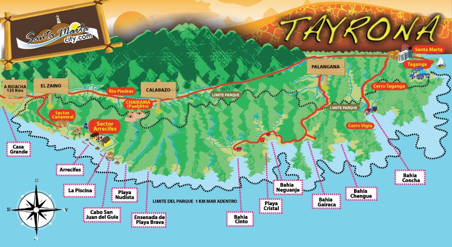 Mapa Tayrona