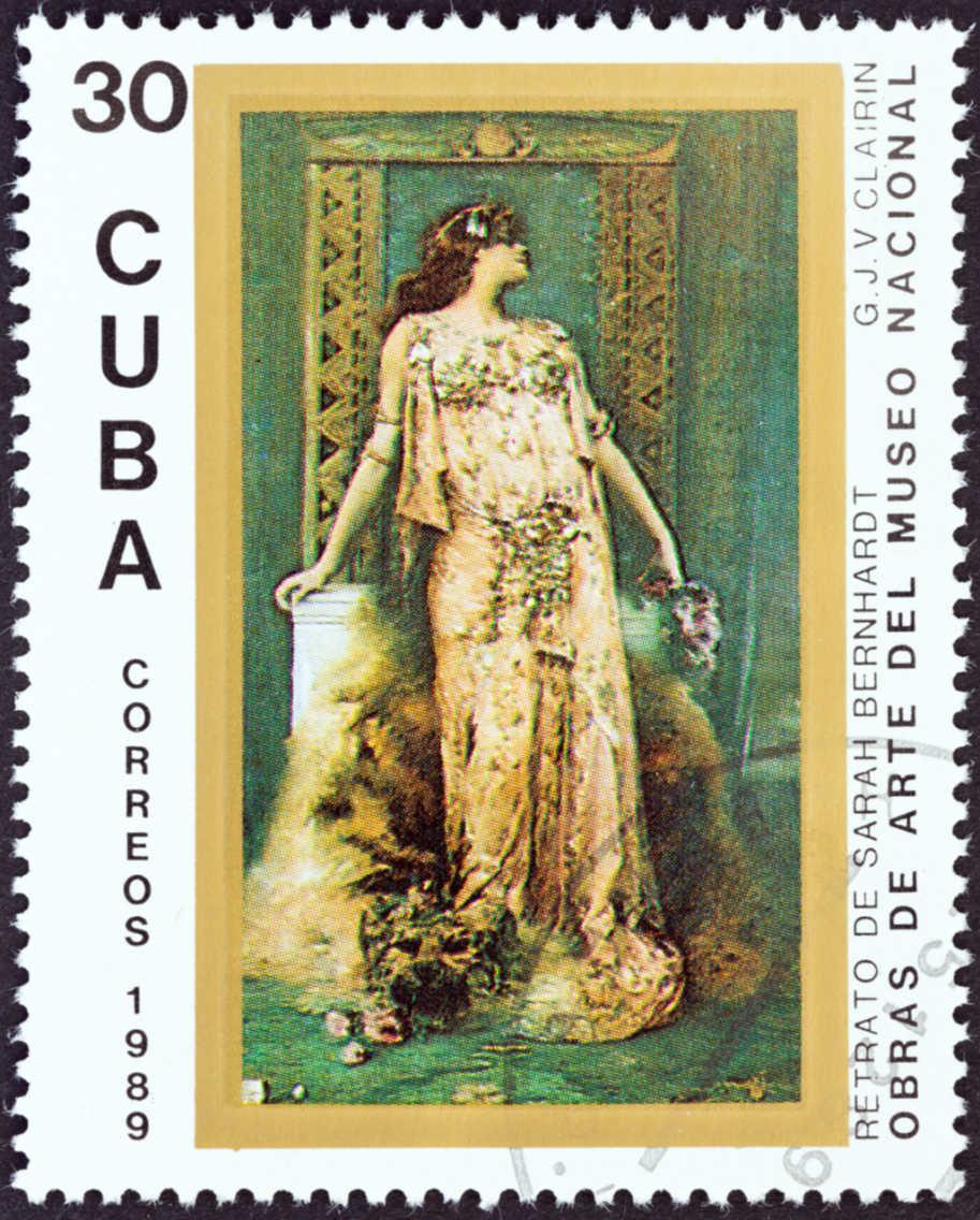 sarah Bernhardt selo correios