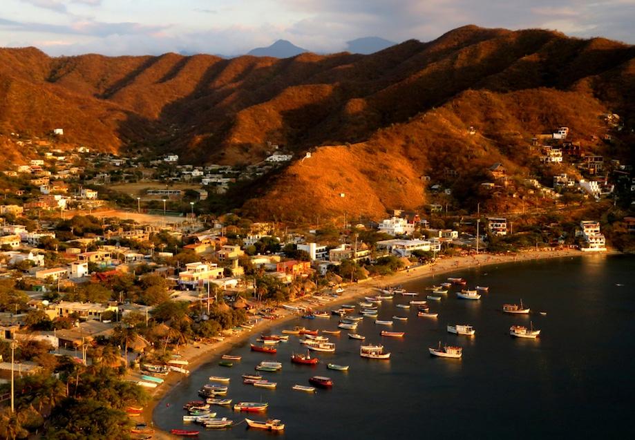 Vista aérea de Taganga