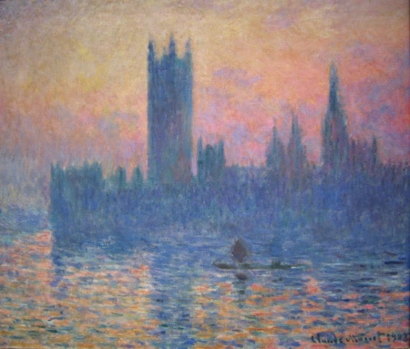 Monet Houses of Parliament, Sunset,