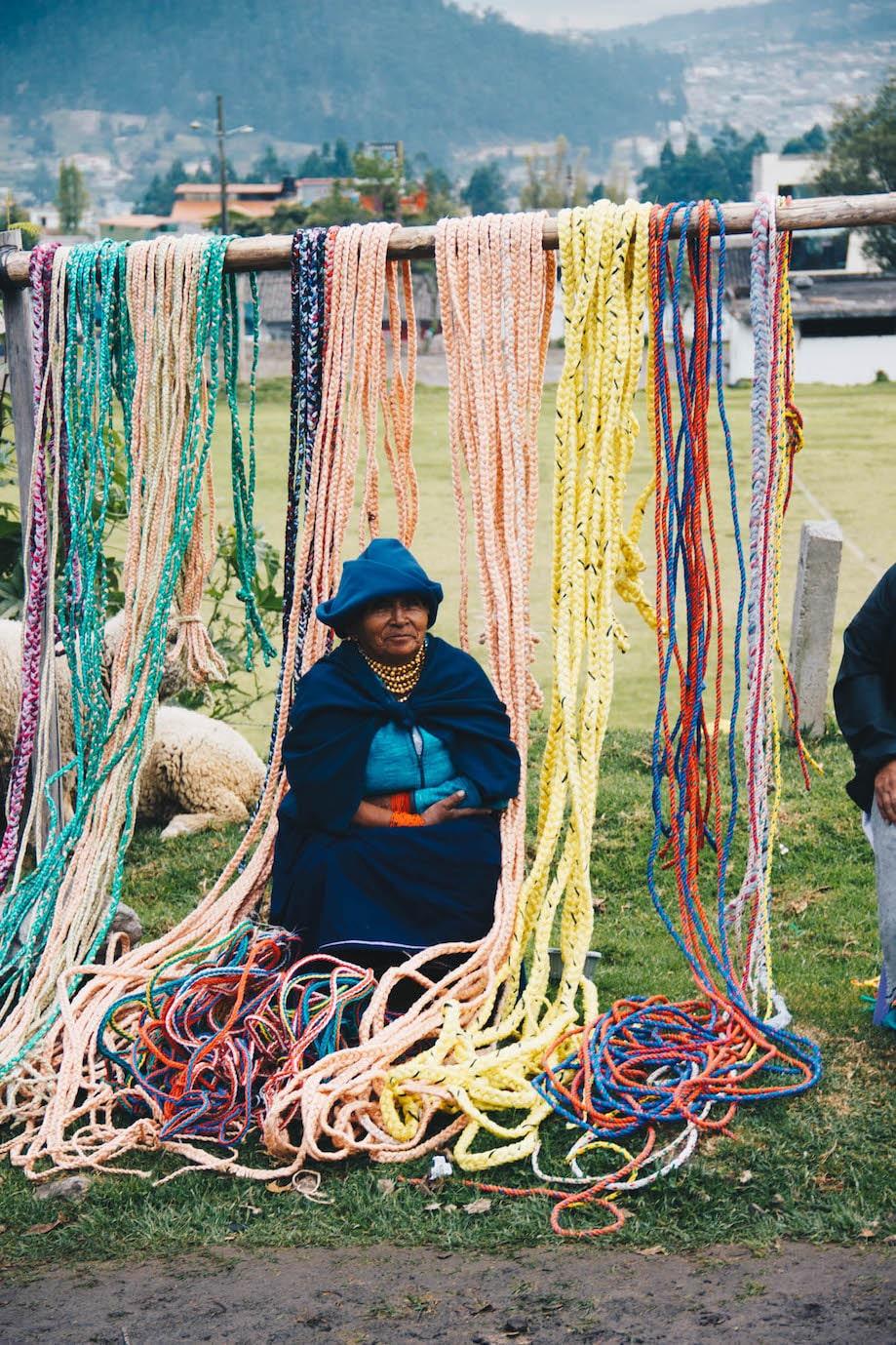 Mercado de animais de Otavalo, Equador
