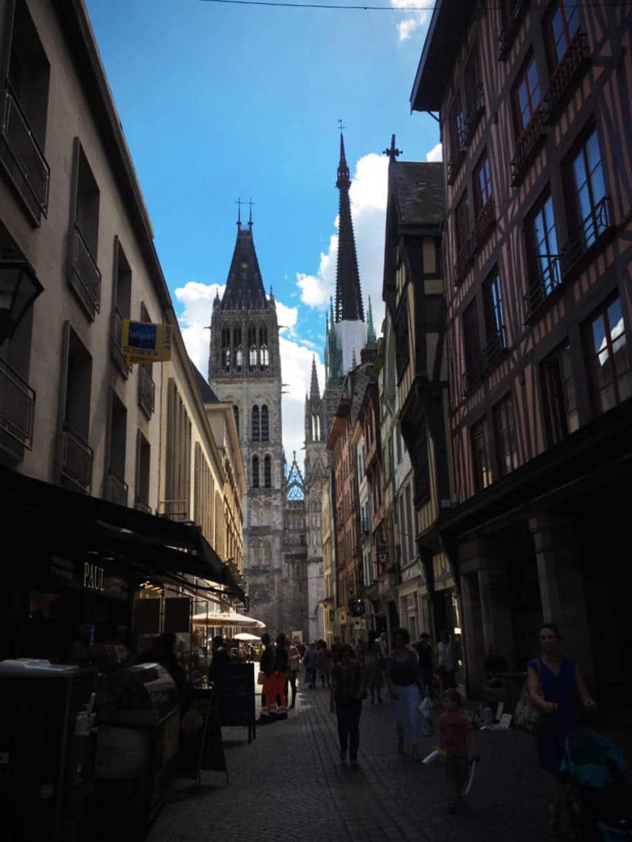 o que fazer em rouen franca rua catedral