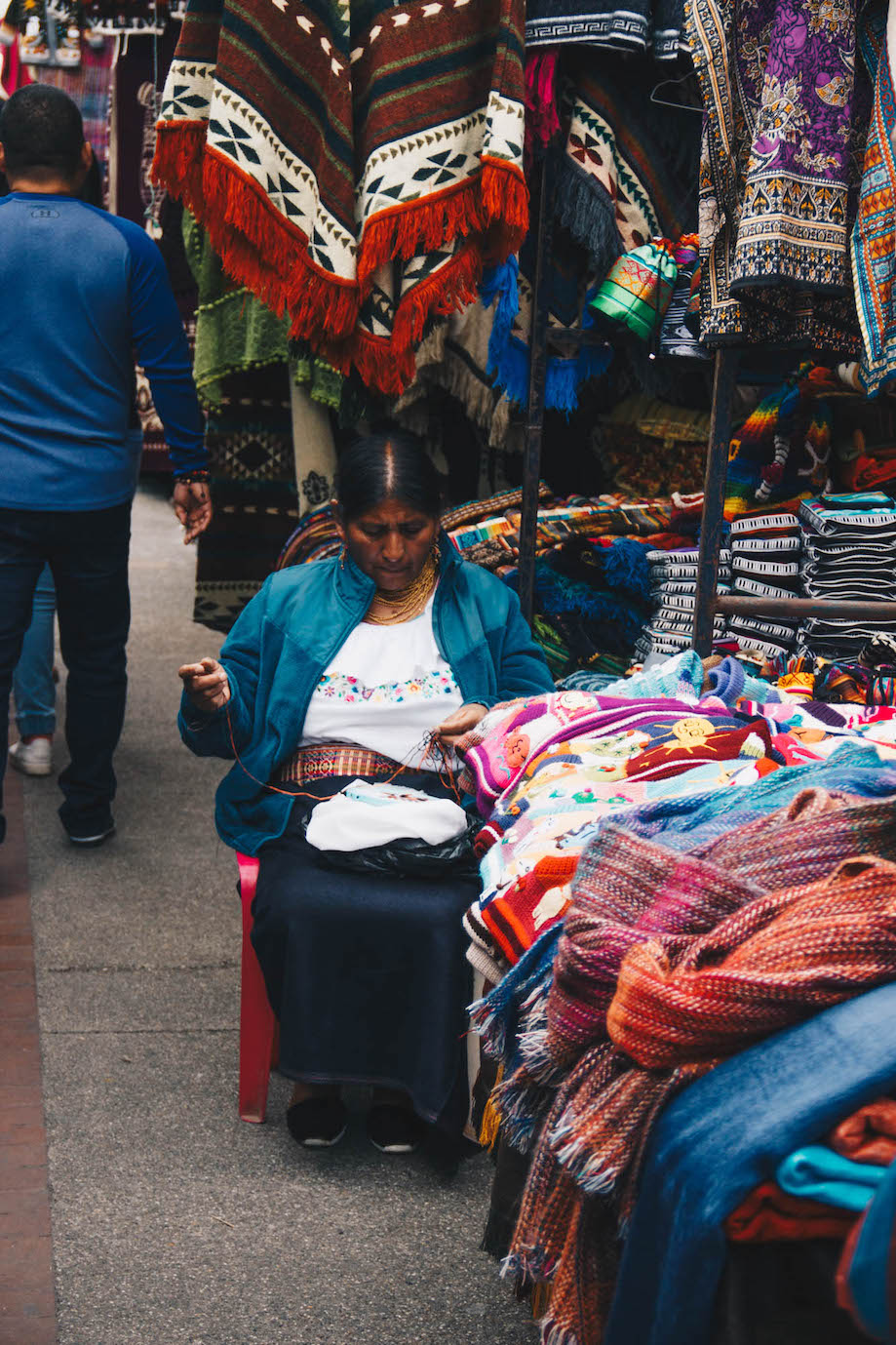 Mercado de artesanato de Otavalo