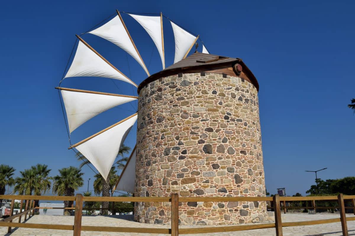 moinho de vento kos grecia
