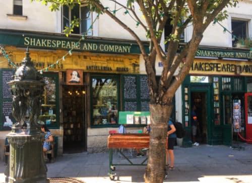 Shakespeare and Company livraria paris fachada